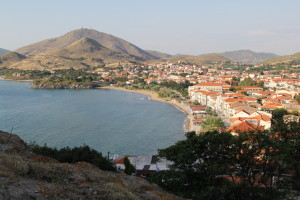View of Limnos from Myrina Castle