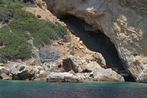 One of many spectacular caves along the Greeck coast