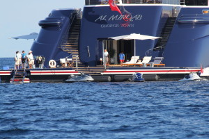 350 ft. Power Boat belonging to the former ruler of Qatar