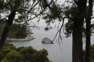One turn after the other brings us beautiful roadside view of Skyros Bays