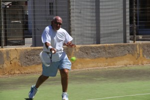 Tom on the Leros Courts
