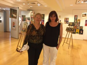 Rita and Athena at the Cultural Foundation of Tinos in Tinos Town