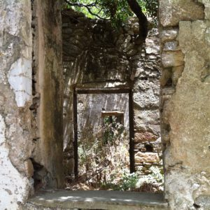 Old doorway in the Village of Volax on the island of Tinos.