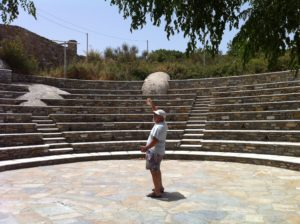 Amphitheater in Volax on the island of Tinos.